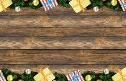 Jul för prydlig filial för gränsram päls- Royaltyfria Foton