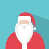 Jul för symbol för Santa Claus Cartoon profillägenhet Royaltyfri Fotografi