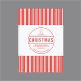 Jul för tema för kortuppsättning Royaltyfria Bilder