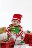 jul först min presents Fotografering för Bildbyråer