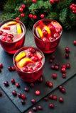 Jul funderade rött vin arkivbild