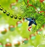Jul gör sammandrag bakgrund av julleksaker Fotografering för Bildbyråer