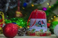 Jul garnering, år som är nytt, ferie, dekor som är utsmyckad Royaltyfri Fotografi
