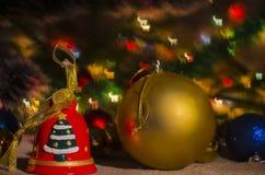 Jul garnering, år som är nytt, ferie, dekor som är utsmyckad Fotografering för Bildbyråer