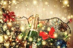 Jul garnering, bakgrund, ferie, nytt år fotografering för bildbyråer