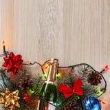 Jul garnering, bakgrund, ferie, nytt år royaltyfria foton