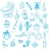 Jul hand-dragen illustration Fotografering för Bildbyråer