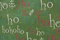 Jul Ho Ho Ho Background Horizontal Royaltyfria Foton