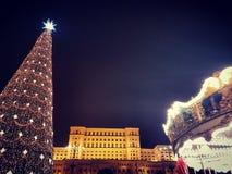 Jul i Bucharest royaltyfria bilder