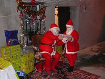 Jul i bygata Royaltyfria Bilder