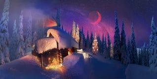 Jul i Carpathiansna Arkivbild