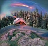 Jul i Carpathiansna Arkivfoto