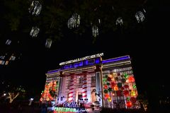 Jul i den Davao staden, Filippinerna Arkivfoton