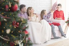 Jul i familjen royaltyfri bild
