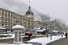 Jul i Interlaken, Bern Canton, Schweiz Royaltyfri Fotografi