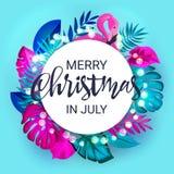 Jul i Juli Sale marknadsföringsmall Vektor för EPS 10 Arkivbilder