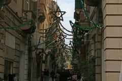 Jul i la valletta Royaltyfri Bild