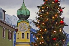 Jul i Lienz, Österrike Arkivfoton
