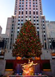 Jul i New York - Rockefeller mittjulgran royaltyfria bilder