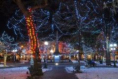 Jul i plazaen Arkivbild
