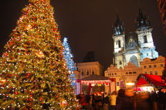 Jul i Prague Arkivbild