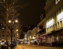 Jul i stad Arkivfoton
