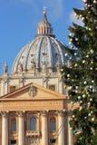 Jul i Vaticanet City Arkivfoto