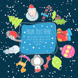 Jul inramar för text royaltyfri illustrationer