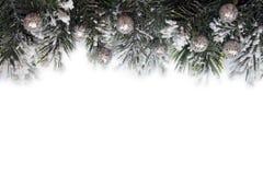 Jul inramar med garneringar Fotografering för Bildbyråer