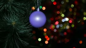 Jul julgarnering som är ny, gåva, leksak, säsong, symbol, beröm, berömhändelse, bakgrunder, garnering, ferie stock video