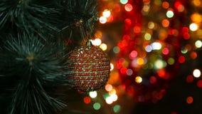Jul julgarnering som är ny, gåva, leksak, säsong, symbol, beröm, berömhändelse, bakgrunder, garnering, ferie arkivfilmer