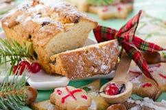 Jul kaka och kakor fotografering för bildbyråer