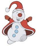Jul kastar snöboll cartoon Royaltyfri Fotografi