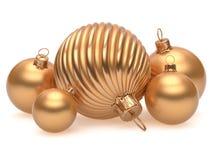 Jul klumpa ihop sig guld- garnering för prydnaden för helgdagsaftonen för ` s för det nya året Arkivfoton