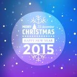 Jul klumpa ihop sig, och fallande snö flagar med violett bakgrund stock illustrationer