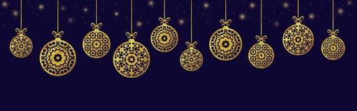 Jul klumpa ihop sig prydnader, xmas-garnering, illustration vektor illustrationer