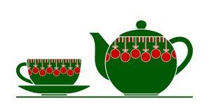 Jul kopp och kruka royaltyfri illustrationer