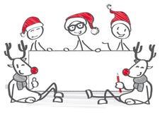 Jul kostymerad grupp stock illustrationer