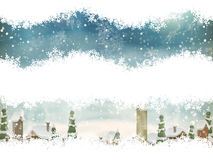 Jul landskap med julträdet 10 eps Arkivfoto