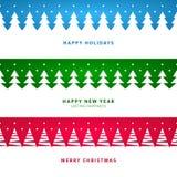 Jul landskap med träd stock illustrationer