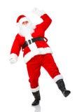 jul lyckliga santa Arkivbild