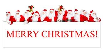 jul lyckliga santa Royaltyfri Fotografi