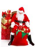 jul lyckliga santa Arkivbilder
