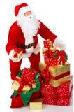 jul lyckliga santa Arkivfoton