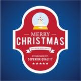 Jul märker och förser med märke vektordesign Garneringbeståndsdelar Fotografering för Bildbyråer
