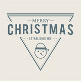 Jul märker och förser med märke vektordesign Garneringbeståndsdelar Royaltyfri Bild