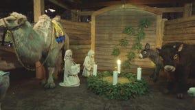 Jul mässa och julgran i domkyrkafyrkanten, December, 2016 lager videofilmer