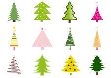 jul många trees Royaltyfria Bilder
