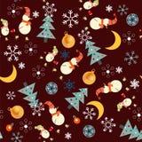 Jul mönstrar med snögubben Royaltyfri Foto