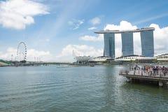 Jul 15, 2015: Marina zatoki piasków kurort w Singapur Zdjęcia Stock